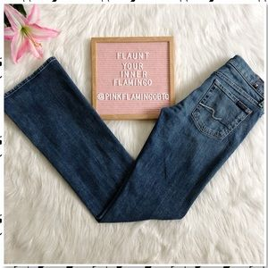 7 For All Mankind Bootcut Medium Wash Jeans 28x34